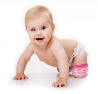 Plod Ons schützen Babys Knie beim Krabbeln, ohne die Bewegungsfreiheit einzuschränken.