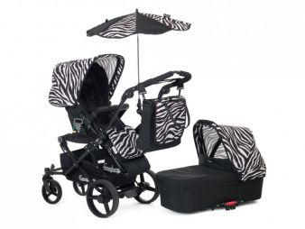 Die Zubehör-Pakete beinhalten ein Verdeck für Wanne und Sitzteil, eine Sitzauflage, Sonnenschirm, Regenschutz und die neue Wickeltasche Mood.