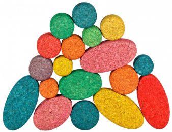 Die Kuller-Steine wurden von Sven Kuch gestaltet und sind antiallergen sowie abwaschbar.
