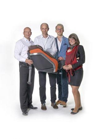Concord Gruppenbild mit Dame: (v. l.) Henrik Liedberg, Andreas Hess, Tobias Zehnder und Martina Kaufmann.Foto: Gert Klaus