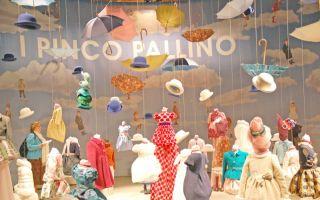 Den Ideen für die Darstellung der Kindermode sind keine Grenzen gesetzt, wie hier bei I Pinco Pallino von der letzten Wintermesse.