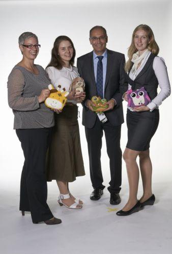 (v. l.) Kerstin Hasselbach, Key Account, Stephanie Sattler, Product Manager, Geschäftsführer Armin Herker und Marianne Eppler, Product Manager.