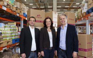 Machten aus ihrer Idee ein erfolgreiches und bald börsennotiertes Unternehmen: (v.l.) die windeln.de-Gründer Alexander Brand, Dagmar Mahnel und K...