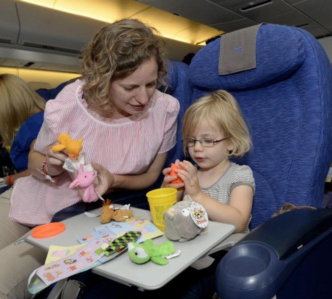 Während des Flugs wurde das Spielverhalten von Kindern im Alter zwischen zwei und zehn Jahren beobachtet. Foto: David Dyson, British Airways.