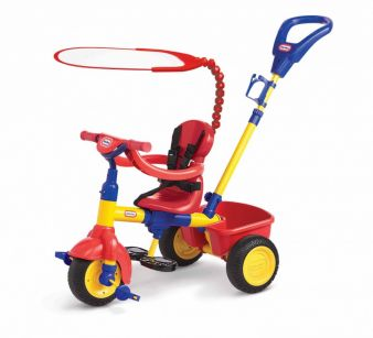 In vier Stufen fördert das 4-in-1-Trike die motorische Entwicklung von Babys und Kleinkindern. (Foto: Zapf Creation)