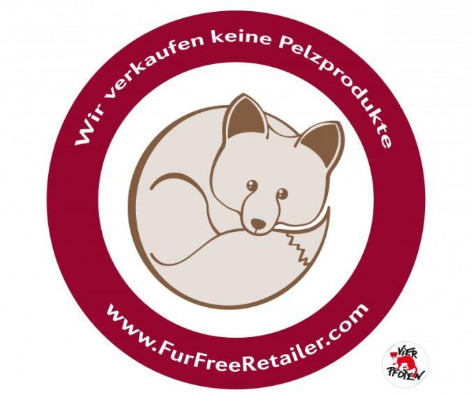 """Kein Pelz: Dafür steht das internationale """"Fur Free Retailer Program""""."""
