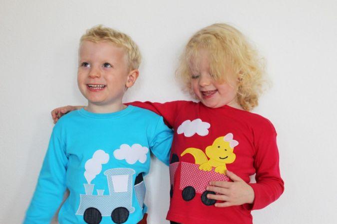 """Nur zusammen ein Ganzes: Der """"Zwillingszug"""" verbindet die Kinder."""