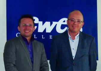 Die Gesellschafter der neu gegründeten Firma Ewers Strümpfe GmbH Kay Stiefermann und Michael Papenheim (v.l.)