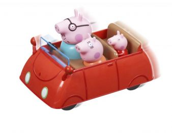 Zum Set des Push & Go-Autos gehören Mama und Papa Wutz - und natürlich Peppa.