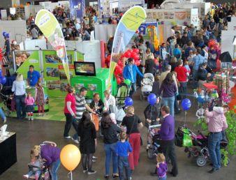 """Information, Aktion und Spaß – auf der """"bambini"""" wird Familien viel geboten."""