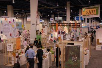 Die untere der beiden Hallen der ABC Kids Expo am ersten Messetag.
