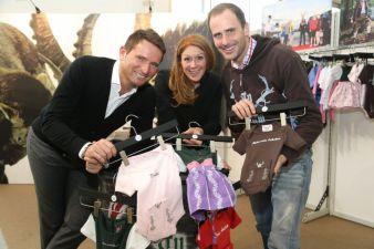 Brandboxx-Geschäftsführer Markus Oberhamberger (l.), Messeleiterin Ulrike Charlotte Martin und Stefan Lang von Tu Felix Austria.