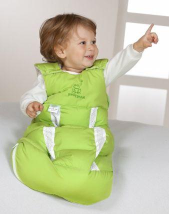 Der BabyNest prima klima Jersey-Schlafsack ist mit einem ClimaBalance-System ausgestattet.