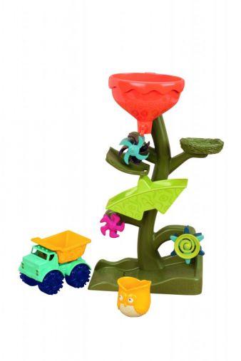 Mit dem Becher in Eulenform können Kinder Sand und Wasser für die Mühle Owl about Waterfalls schöpfen.