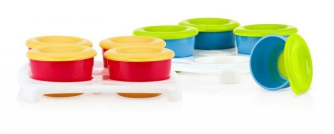 Die hygienischen Portionsbehälter haben eine ideale Größe für Kleinkinder.