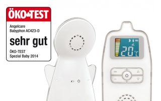 """Der Testsieger bei ÖKO-TEST mit der Bestnote """"sehr gut"""": das neue Angelcare Babyphone AC423-D."""