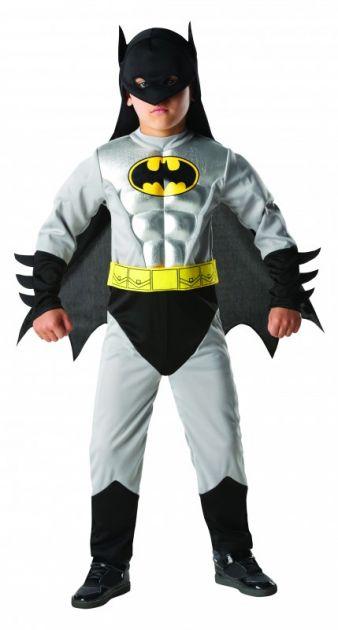 Ob Batman oder Batman Metallic: Die Rubie's-Kostüme passen Kindern ab drei Jahren.