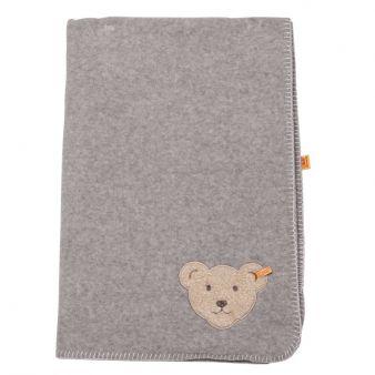 Statt Knopf im Ohr eine kleine Teddy-Applikation am Deckenrand.