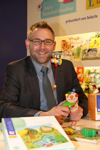 Vorstandsvorsitzender Matthias Wenzel auf der vergangenen International Toy Fair in Nürnberg.