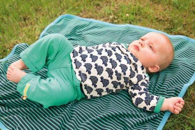 Nachhaltigkeit in der gesamten Produktionskette, wie es GOTS-zertifizierte Kleidung zusichert, ist Eltern zunehmend wichtig - aus der SS 2016-Kolle...