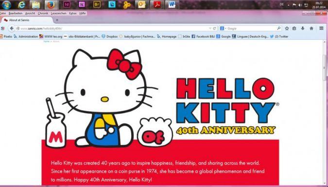 """01.08.2014: """"Hello Kitty"""": Lizenz-Star seit 40 Jahren"""