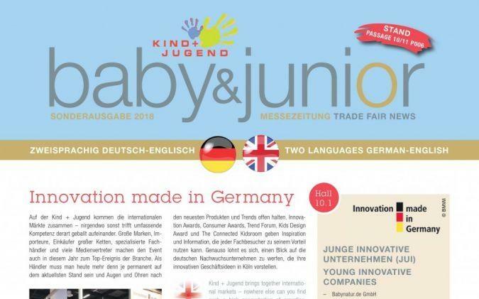 Titel Messezeitung Kind + Jugend