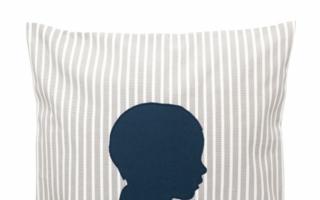 Klassisch: Ein Kissen von Kindskopf Berlin passt zu jeder Einrichtung.