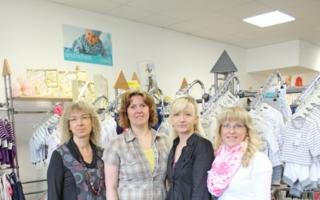 Ein starkes Team: Geschäftsführerin Pia Klauer mit ihren Mitarbeiterinnen Antje Volkmer, Anja Rommel und Melanie Wittig (v. l.).