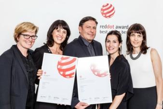 Die Geschäftsleitung der Lässig GmbH, Karin Heinrich, Claudia und Stefan Lässig freuen sich gemeinsam mit ihren Mitarbeiterinnen Miriam Garcia (...