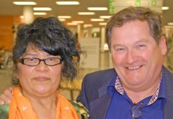 Die holländisch-brasilianische Traumkombination. Rimex Toys Direktor und Pinolino-Vertreter René van Mierlo mit seiner Frau Alexandra.
