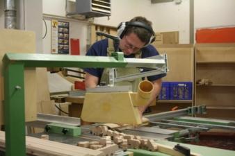 In der Schreinerei in Kirchseeon werden die meisten Selecta-Produkte hergestellt. Bild: Uli Kowatsch