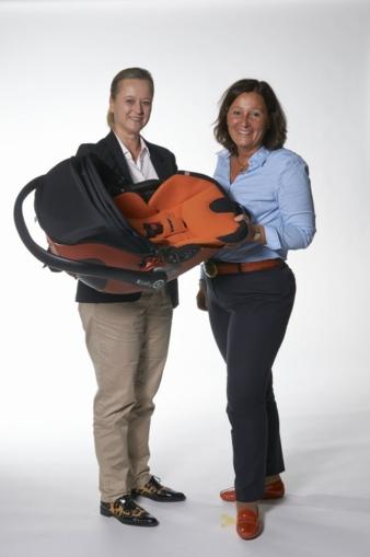 Bettina Würstl, Managing Partner kiddy (r.) – hier zusammen mit ihrer Marketing- und PR-Chefin Sabine Schrenk – sucht Verkäufer, die ihr Tale...