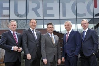 Die Vorstände der EK/Servicegroup und Euretco freuen sich über die künftige Zusammenarbeit. Im Bild (v.l.n.r.): BerndHorenkamp, Steve Evers, Fra...
