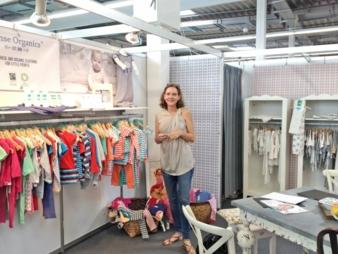 Kirsten Weihe-Keidel vom Kindermodelabel Sense Organics freute sich über gute Geschäfte auf der INNATEX.