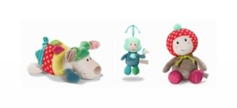 Für Babys und Kleinkinder: der Hund Fino, das Fliegenpilzmädchen Maila und der Regenbogenjunge Kobi.