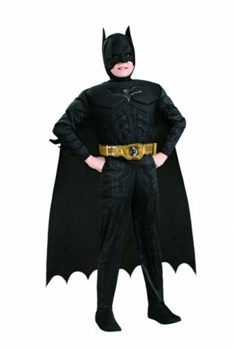 """Mit dem Batman-Kostümen von Rubie's Deutschland, Bergisch Gladbach, können Kinder in die """"Haut"""" ihres Helden schlüpfen."""