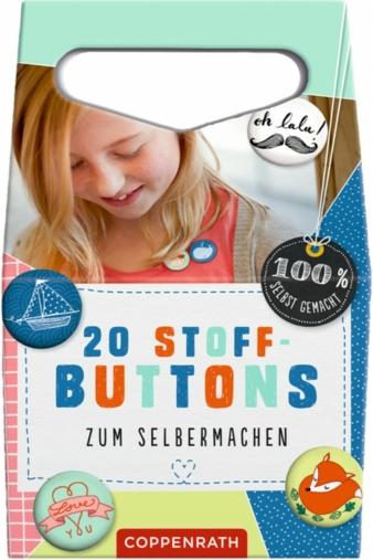 Sofort loslegen können die Kids mit dem Stoff-Button-Set.