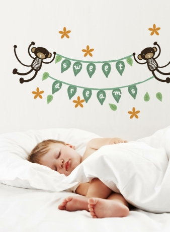 Wee Gallery - Monkey Banner Wall Graphics - wg314_web