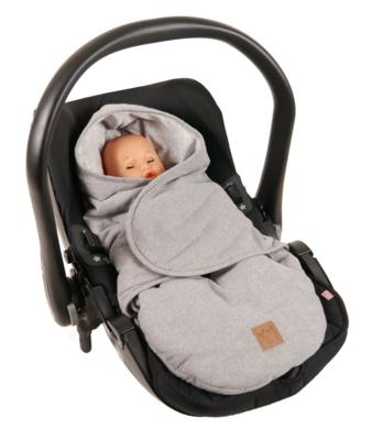 Einschlagdecke Molly Melange  65361 in der Babyschale