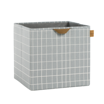 L+ñssig Storage Allover Toy Cube Checks grey