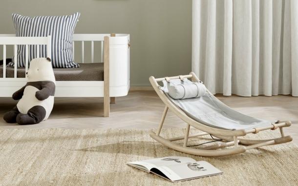 """Stilvolle """"Wood""""-Baby- und Kleinkindwippe"""