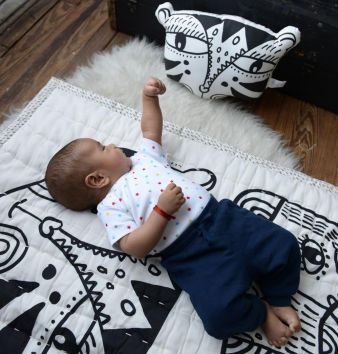 Wee Gallery - Tiger Pillow with baby_web