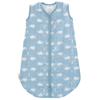 Fresk_F100-25-Sleepingbag-muslin-Whale-bluefog