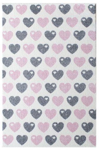 Livone x byGraziela, Herzen 120 cm x 180 cm, rosa grau , VK 119,00 €