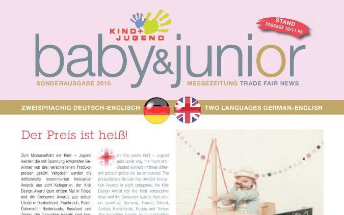Messezeitung baby&junior 2016
