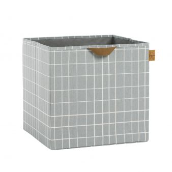 L+ñssig Storage Allover Toy Cube Checks grey