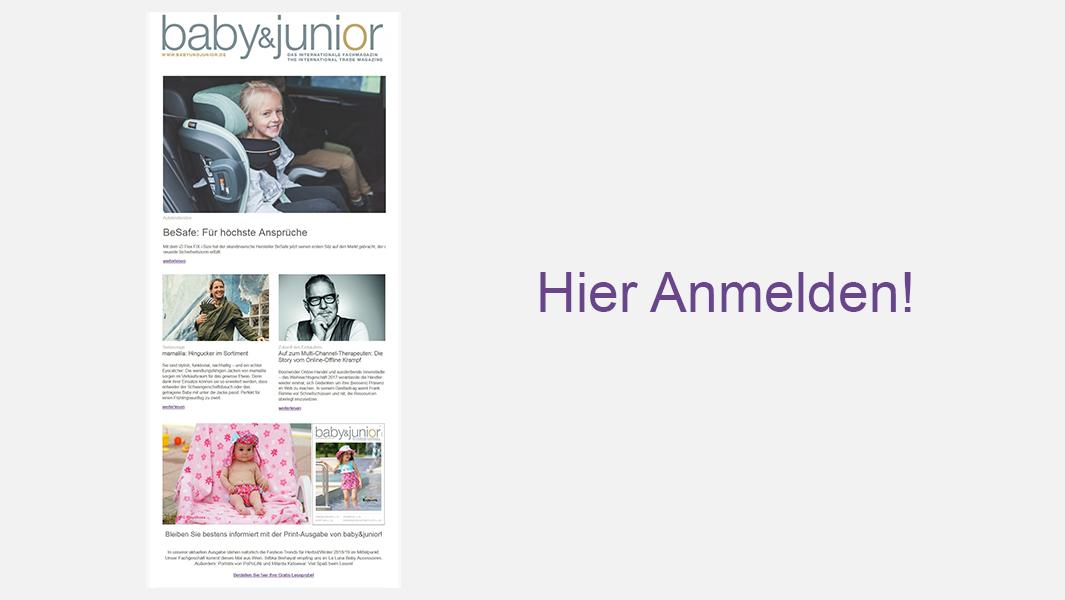 Anmeldung Newsletter baby&junior